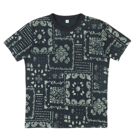 Pure Blue Japan PBJ Short Sleeve T-Shirt—Indigo Discharge Print