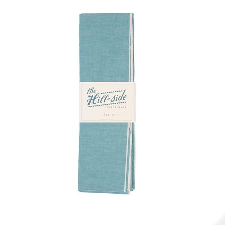 The Hill-side Scarf - Teal Chambray