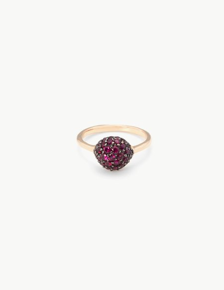 Kathryn Bentley Small Ruby River Rock Ring