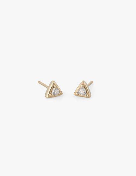 Dream Collective Tiny Diamond Triangle Studs