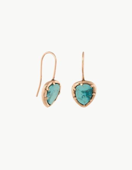 Kathryn Bentley Turquoise Organic Amulet Earrings