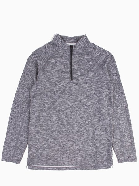 Reigning Champ Half Zip Trail Shirt - Heather Black
