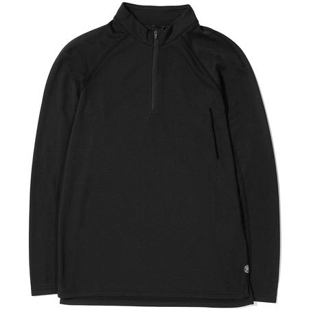 Reigning Champ Half Zip Honeycomb Trail Shirt - Black