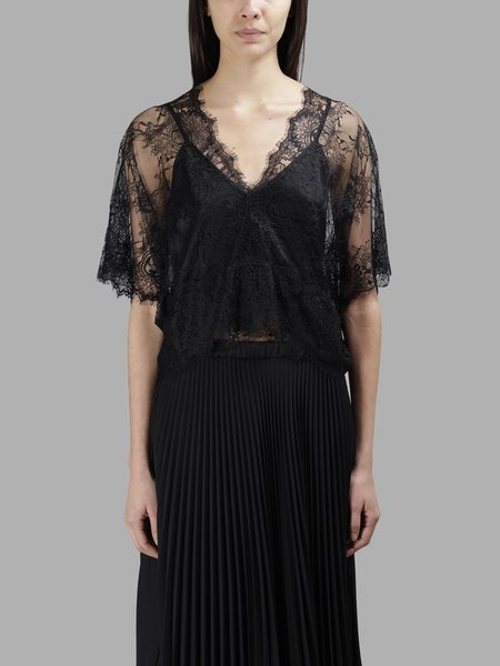 Loyd Ford Lace Top with Cami - Black