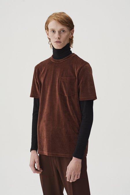 CMMN SWDN Bren Velour T-Shirt - Clay