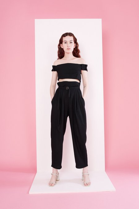 Samantha Pleet Regent Pants - Black