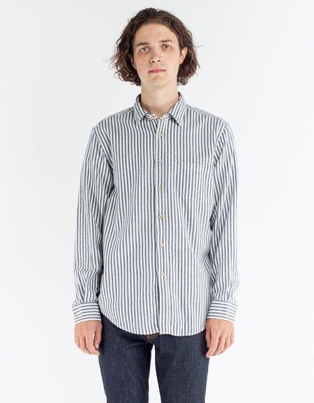 Portuguese Flannel Barraca Striped Shirt White Black