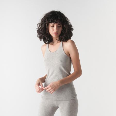 EVAM EVA Cotton Cashmere Camisole in Grey