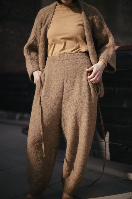 Wol Hide Jogger Pant with Quilted Detail - Brown