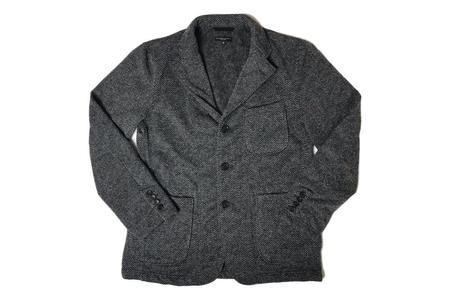 Engineered Garments Knit Blazer - Grey Herringbone Fleece