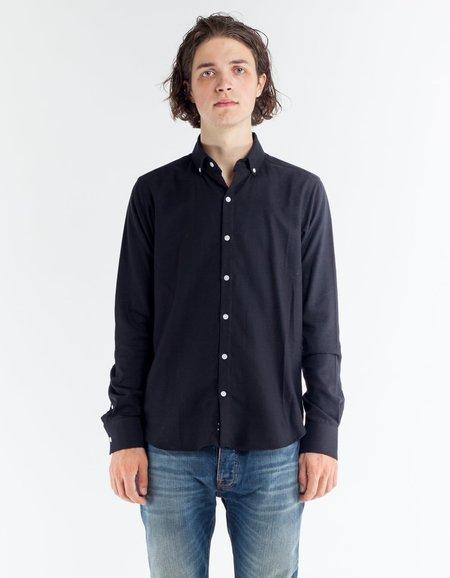 18 Waits Windsor Shirt Solid Black Flannel