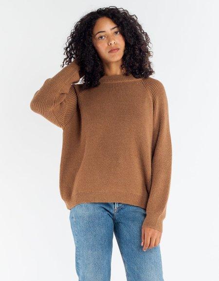 Ali Golden Chunky Pullover Chestnut