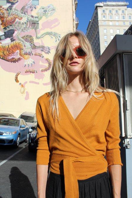 Beklina Cashmere Ballet Wrap Sweater - Fools Gold