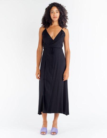 Ali Golden Wrap Tank Dress Black