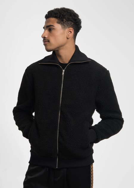 CMMN SWDN Black Terry Knitted Sweater