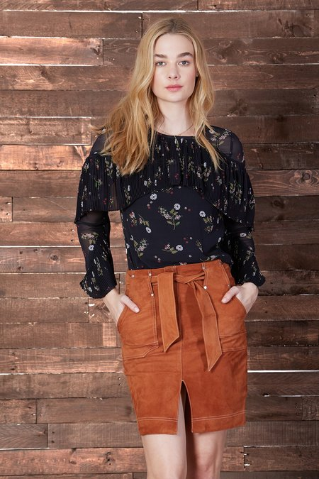 Cosette Clothing Eliott Floral Silk Blouse