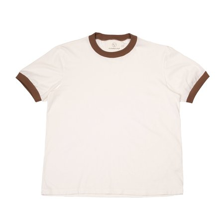 Olderbrother Ringer Tee - Chocolate Coffee