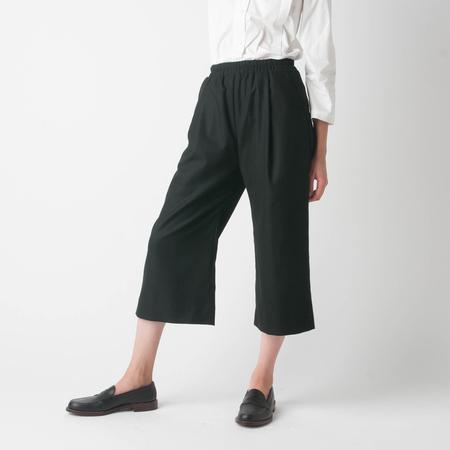 GREI. Wide Crop Pant in Black
