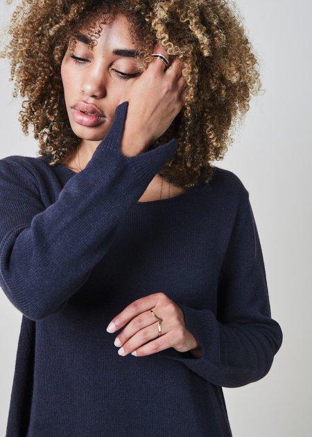 Hemisphere Split Cuff Cashmere Sweater