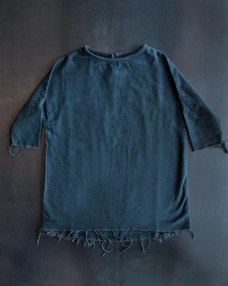 Kid's  Black Crane Mini Painter Dress - Dark Shadow