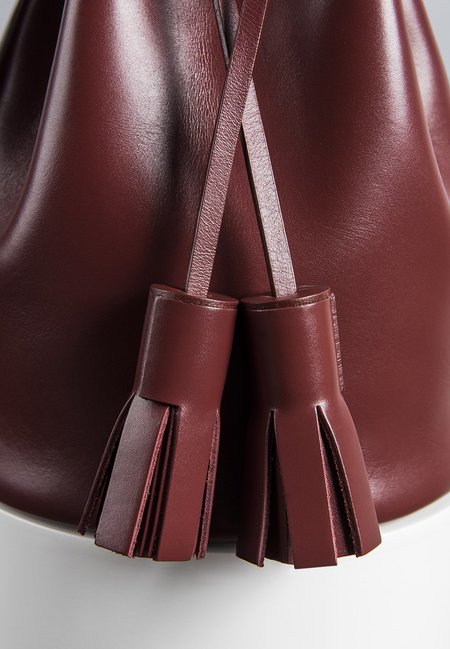 Building Block Mini Bucket Bag - Wine
