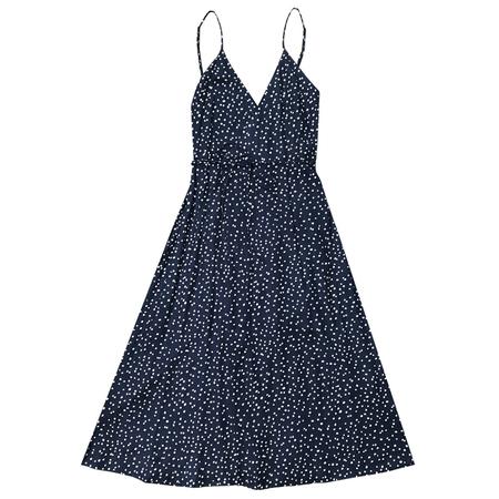 Ali Golden Tank Wrap Dress - Blue Dot