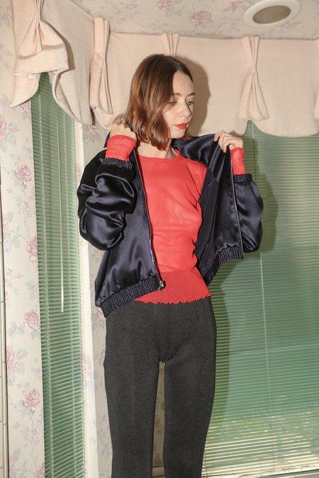 PRISCAVera Silk Jacket in Midnight