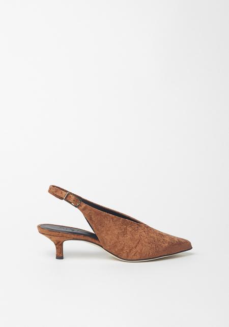 Tibi Lia Rust Velvet Heel