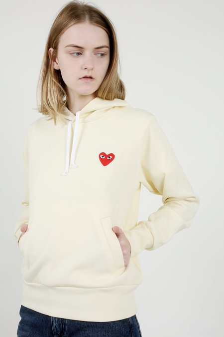 Comme des Garçons Play Ivory Sweatshirt