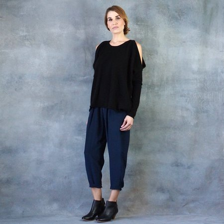 Line The Label Cold Shoulder Cashmere Sweater