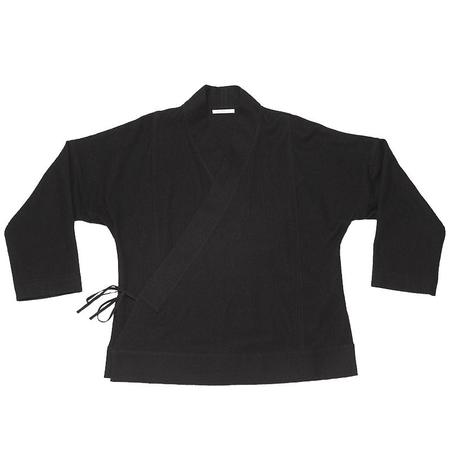 s.k. manor hill Folk Robe -  Black Cotton / Wool
