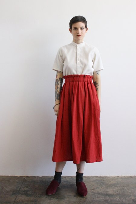 wrk-shp Long Draft Skirt - Chili