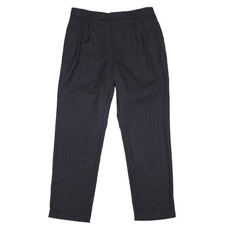 s.k. manor hill Louis Pant - Navy/White Pinstripe Wool