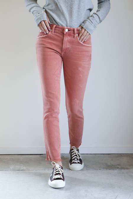 Amo Denim Stix Crop Jeans in Canyon Rose