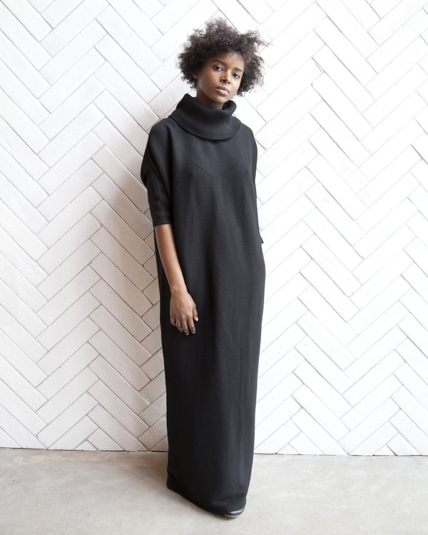 Esby Murphy Dolman Rib Dress - Black