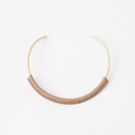 Crescioni kiva necklace saddle brown