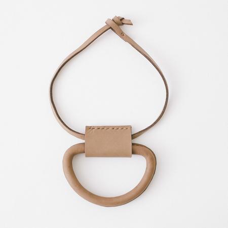 Crescioni logan necklace saddle brown