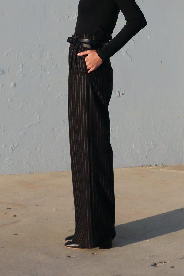 Waltz Pinstripe Wide Leg Trouser