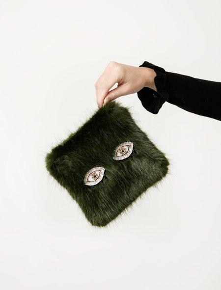 Shrimps Womens Finola Clutch - Moss Green Eyes