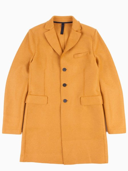 Harris Wharf Chester Coat Pressed Wool - Mustard