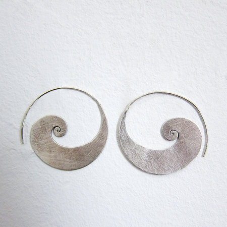 Hill Tribe Wide Silver Hoops