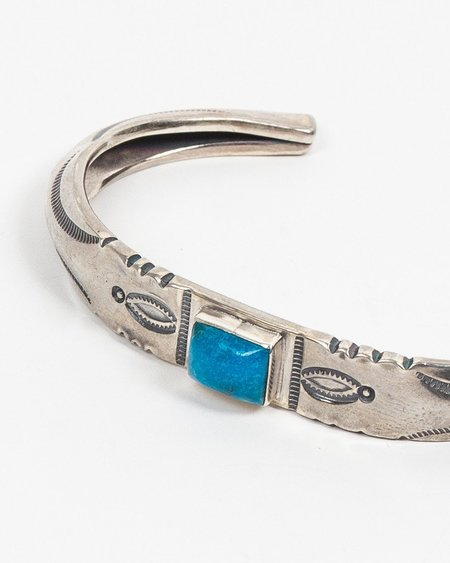 Larry Smith Turquoise Stamp Work Cuff