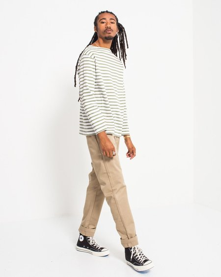 Orcival White/Olive Tee