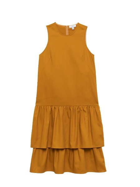 In God We Trust Wendy Dress - Yellow Twill