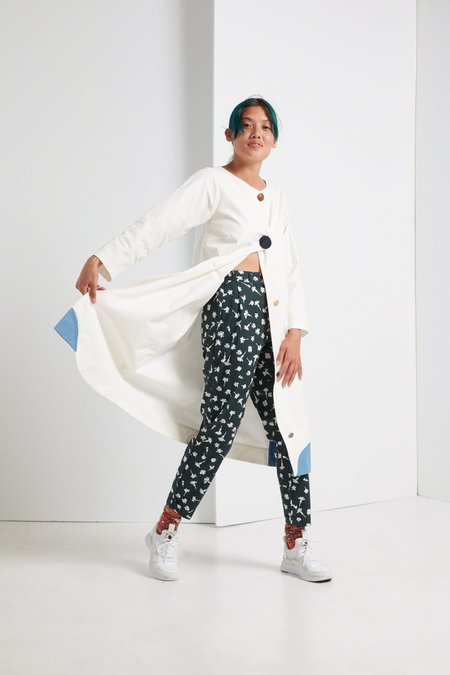Kowtow Classic Pant in Pressed Flower Print