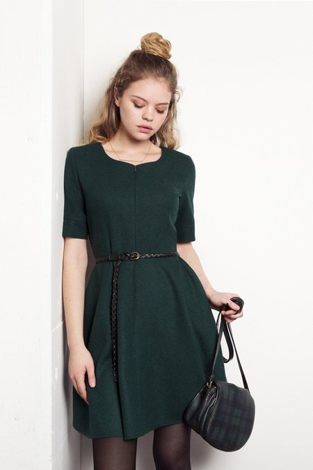 Meemoza Elly Dress - Forest Green