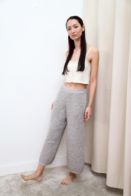 KORDAL Textured Wool Trouser - Cloud Grey