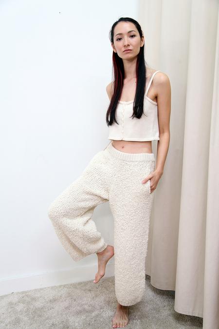 KORDAL Textured Wool Trouser - Cream