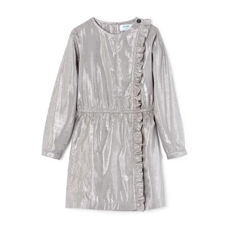 Polder Girl Celia Lurex Dress - Silver