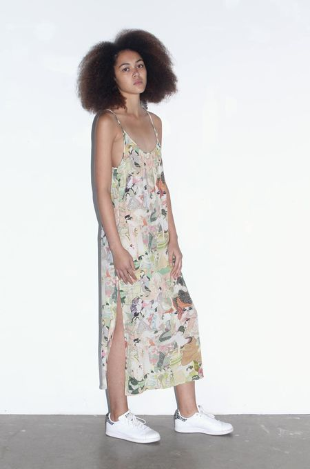 Strathcona Japanese Lover Silk Slip Dress